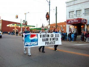 Warm Winter Project Volunteers in Christmas Parade