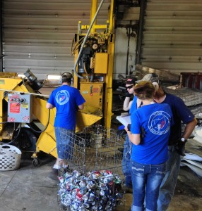 Youthbuild participants at work in the Sojo Eco Community Recycling Center