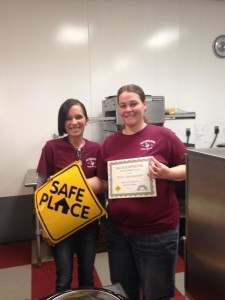 Staff at R & C Quickstop, a Safe Place site in Vinton County