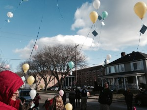 Our balloon release sent balloons with the children's dreams attached flying over Chillicothe